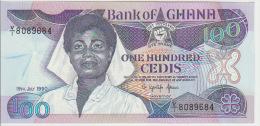 Ghana 100 Cedis 1990 Pick 26 UNC - Ghana