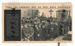 HISTOIRE DE VILLENEUVE D ASCQ . ARTICLE DE LA REVUE NORD FRANCE 1954 . MASSACRE ASCQ  EN 1944 - Historical Documents