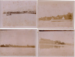 4 Photos Sépia De 1898 - GENEVE - Hotel National - A Localiser     (Suisse) (110814) - Photos