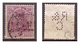 DR: Perfin, Nr. 146 I, Geprüft, Gestempelt - Deutschland