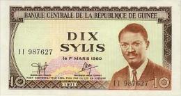 Guinea 10 Sylis 1971 Pick 16 UNC - Guinée