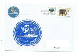 16828 - BSAH RHÔNE - DLD 2018 - ESCALE DE FORT VICTORIA (Colombie BRIT) CANADA - Marcophilie (Lettres)