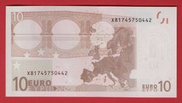 10 EURO GERMANY - E008 A6 - DRAGHI - X81745750442 - UNC - NEUF - FDS - 10 Euro