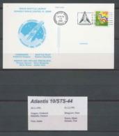 1225 Espace (space Raumfahrt) Lettre (cover Briefe) Atlantis Sts-44 Shuttle (navette) USA  1/12/1991 - FDC & Commemoratives