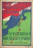 Aviation - Guide Voyages Aériens Paris-Bruxelles-Amsterdam - 1922 - Livres, BD, Revues