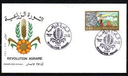 Algérie Révolution Agraire  // Premier Jour FDC   //  1975 - Argelia (1962-...)
