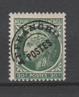 FRANCE / 1945-1947 / Y&T Préo N° 89 ** : Cérès De Mazelin 90c Vert - Gomme D'origine Intacte - Préoblitérés
