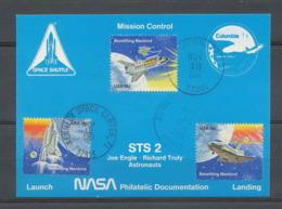 2882 Espace (space Raumfahrt) Carte Maximum (card) Usa Sts-2 Columbia Shuttle (navette) 12/11/1981 - FDC & Commemoratives