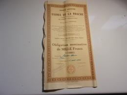 USINES DE LA BROCHE (poterie) MOLINET , ALLIER - Shareholdings