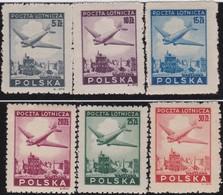 Polen   .  Yvert   Luft  10/15       .    *      .   Ungebraucht Mit Gummi Und Falz  .   /  .   Mint Hinged - Airmail