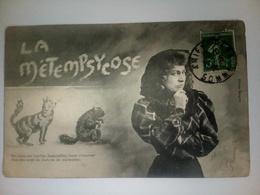 Cpa  LA METEMPSYCOSE  LES AMES DES VIEILLES ....  BERGERET - Bébés