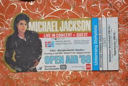 1493/ Michael JACKSON Place Live In Concert OPEN AIR 88 KöLN Müngersdorfer Stadion 3Juli 1988 - Autres