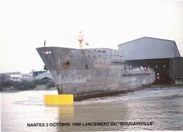 CPM* N°108 - NANTES 3 OCTOBRE 1986 LANCEMENT DU BOUGAINVILLE - Nantes
