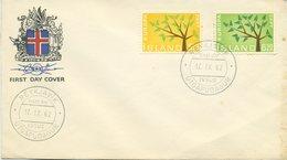 ISLANDA - FDC 1962  - EUROPA UNITA - CEPT - FDC
