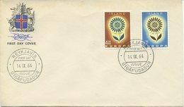 ISLANDA - FDC 1964  - EUROPA UNITA - CEPT - FDC