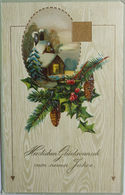 """""""Neujahr, Biedermeier""""1912, Prägekarte, Serie S&S 3135 ♥   - Neujahr"""