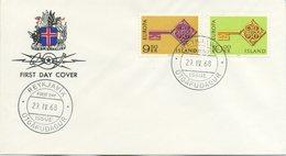 ISLANDA - FDC 1968  - EUROPA UNITA - CEPT - FDC