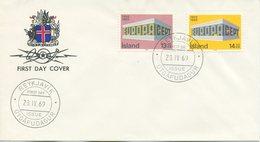 ISLANDA - FDC 1969  - EUROPA UNITA - CEPT - FDC