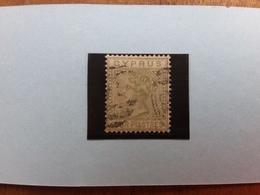 EX COLONIE INGLESI - CIPRO 1881 - Regina Vittoria N. 12 Timbrato (leggera Spellatura) + Spedizione Prioritaria - Cipro (...-1960)