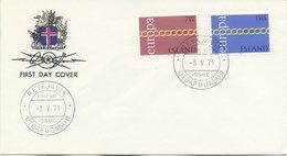 ISLANDA - FDC 1971  - EUROPA UNITA - CEPT - FDC