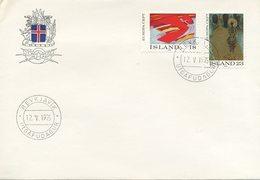 ISLANDA - FDC 1975  - EUROPA UNITA - CEPT - ARTE - FDC