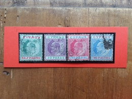 EX COLONIE INGLESI - CIPRO - Re Edoardo VII Nn. 34/37 Timbrati + Spese Postali - Cipro (...-1960)