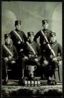 Ref 1250 - Super Early Real Photo Postcard - St John Ambulance - Medal Winners & Trophy - Red Cross
