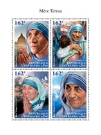 REP. CENTRAFRICAINE 2018 - Sheet MNH**  Mother Theresa - Teresa Enfance - Charity - Childhood Kindheit Infancia Infanzia - Mère Teresa
