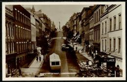 Ref 1250 - Real Photo Postcard - Shipquay Street - Londonderry Ireland - Londonderry