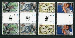 """WWF - Samoa - Mi.Nr. 1218 / 1222 Gutter Pair - """"Pazifik-Baumboa"""" ** / MNH (aus Dem Jahr 2014) - W.W.F."""
