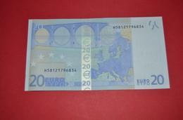 20 EURO R027H2 - SLOVENIA - DRAGHI R027 H2 - H58121796834 - UNC - FDS - NEUF - EURO