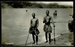 Ref 1250 - Real Photo Ethnic Postcard - Zulu Natives - Zululand South Africa - Africa
