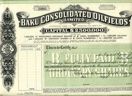 BAKU CONSOLIDATED OILFIEDS - Pétrole