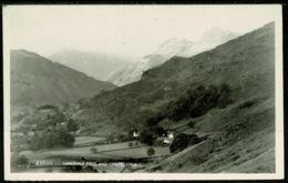 Ref 1251 - Real Photo Postcard - Langdale Pikes & Chapel Stile - Lake District Cumbria - Cumberland/ Westmorland