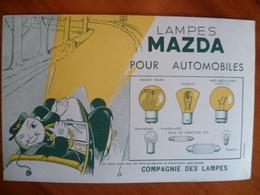 Buvard  LAMPES MAZDA Pour Automobiles - Carte Assorbenti