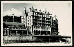 Ref 1252 - Real Photo Raphael Tuck Postcard - Grand Hotel & Pavilion Llandudno Wales - Caernarvonshire