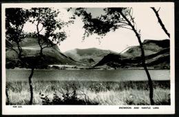 Ref 1252 - Real Photo Postcard - Snowdon And Nantle Lake - Caernarvonshire Wales - Caernarvonshire