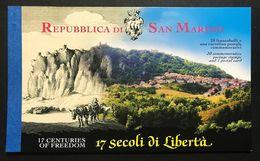 San Marino 2001 17 Secoli Di Libertà Libretto Nuovo MNH** Cod.bu.250 - San Marino
