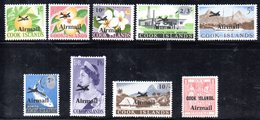 W2987 - COOK ISLANDS 1966 ,  Posta Aerea Yvert  1/9  ***  MNH - Cook