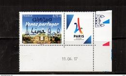 FRANCE - Lima 13/09/2017** -  Coin Daté - Unused Stamps