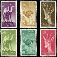 Sahara 133/38 (*) Fauna. Dromedario. Avestruz, Gacela. 1957. Sin Goma - Sahara Español