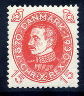 DENMARK 1930 Birthday Of King Christian X 15 Øre MNH / **.  Michel 189 - Unused Stamps