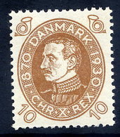 DENMARK 1930 Birthday Of King Christian X 10 Øre MNH / **.  Michel 188 - Unused Stamps