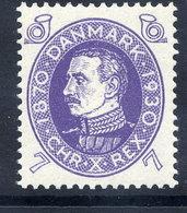 DENMARK 1930 Birthday Of King Christian X 7 Øre MNH / **.  Michel 186 - Unused Stamps