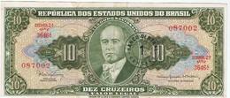 BRESIL - 10 Cruzeiros - Surcharge 1 Centavo - Brasil