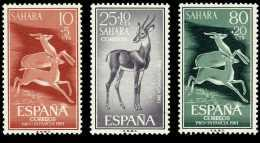 Sahara 190/92 (*)  Fauna. Gacelas . 1961. Sin Goma - Sahara Español