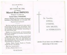Vorst, Heusden: 1957, Marcel-Remi IMPENS; Met FOTO ( 2 Scans) - Images Religieuses
