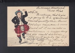 Scotland PC Kilt Dance 1903 Gothesay To USA - Europa