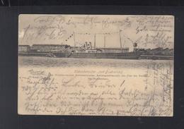 Kabeldampfer V. Podbielski Norddeutsche Seekabelwerke AG Am Pier Der Fabrik Nordenham 1903 - Piroscafi