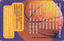 Latvia, D-028, Adidas Streetball '99,  Basketball, 2 Scans. - Lettland